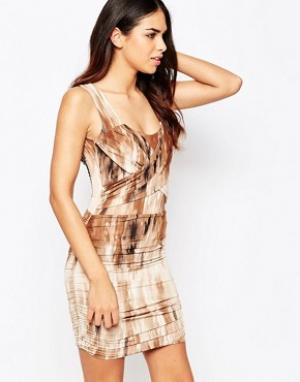 Hedonia Платье с присборенной отделкой Abi. Цвет: коричневый