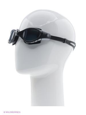 Очки для плавания Speedo. Цвет: серый, черный