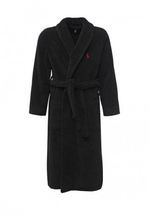 Халат домашний Polo Ralph Lauren. Цвет: черный