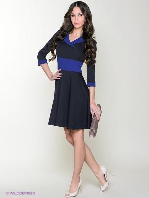 Платье Colambetta. Цвет: темно-синий, синий