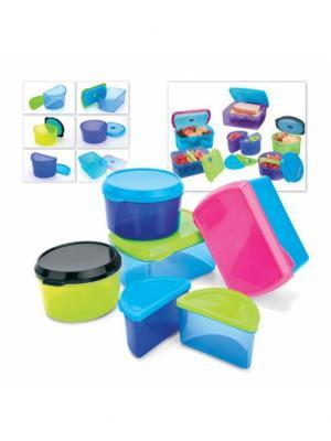 Набор контейнеров с охлаждающим элементом (6 шт.) BRADEX. Цвет: розовый, синий