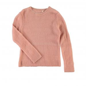 Пуловер длинный из тонкого трикотажа, 5 - 14 лет NAME IT. Цвет: светло-коралловый,серый