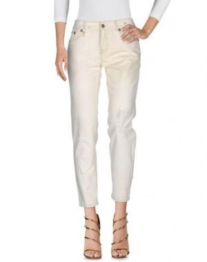 Джинсовые брюки R13. Цвет: бежевый