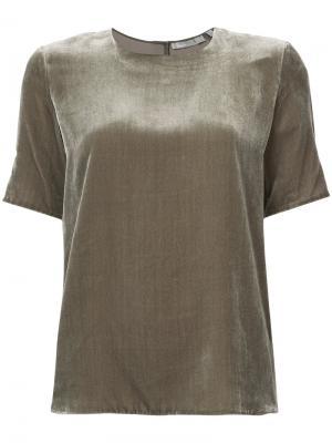 Бархатная блузка Vince. Цвет: зелёный