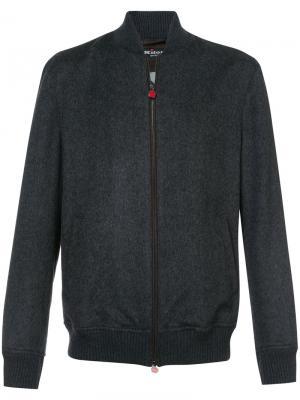 Куртка-бомбер Kiton. Цвет: серый