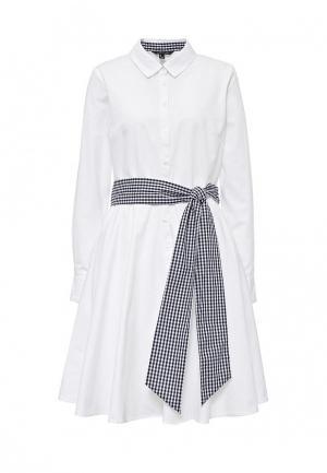 Платье Cortefiel. Цвет: белый