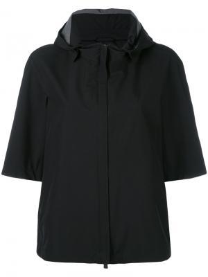 Куртка с капюшоном и короткими рукавами Herno. Цвет: чёрный