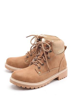 Ботинки TF. Цвет: коричневый