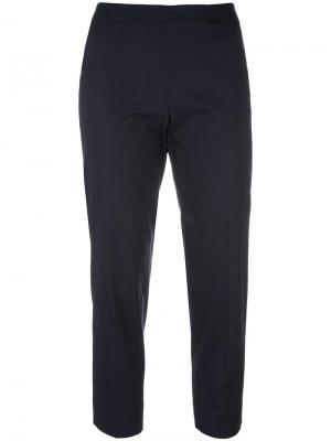 Укороченные брюки Piazza Sempione. Цвет: синий