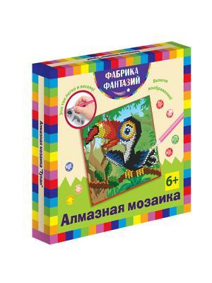 Алмазная мозаика Тукан, размер 15х15 см Фабрика Фантазий. Цвет: синий, белый, желтый, зеленый, коричневый, оранжевый, серо-голубой, серый, темно-зеленый