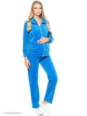 Спортивный костюм для беременных Nuova Vita. Цвет: бирюзовый