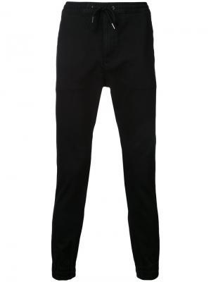 Зауженные брюки с эластичным поясом monkey time. Цвет: чёрный