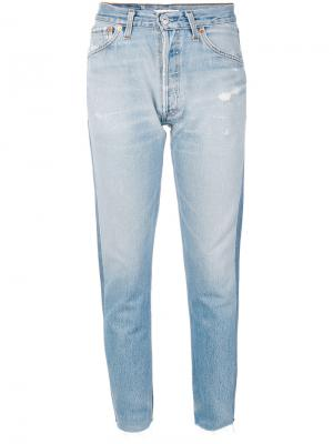 Укороченные джинсы Re/Done. Цвет: синий