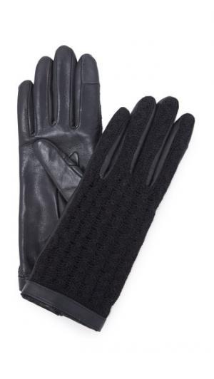 Перчатки для использования смартфонов Keiko Agnelle. Цвет: голубой