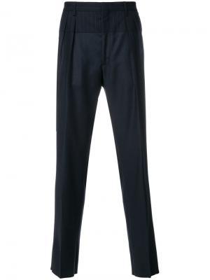 Классические брюки в тонкую полоску Gabriele Pasini. Цвет: синий