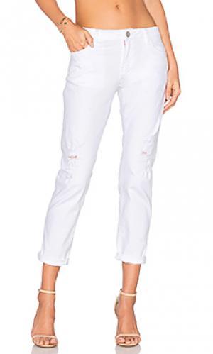Потертые джинсы в мужском стиле Etienne Marcel. Цвет: none