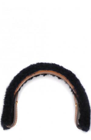 Ручка для сумки с отделкой из овчины Anya Hindmarch. Цвет: темно-синий