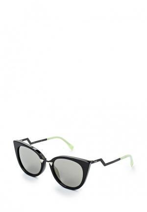 Очки солнцезащитные Fendi. Цвет: черный