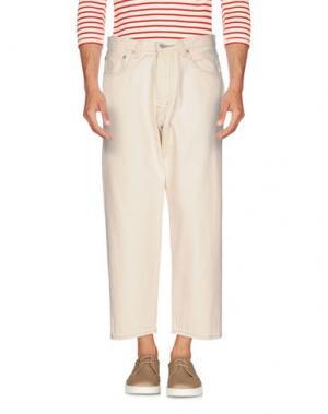 Джинсовые брюки MA'RY'YA. Цвет: слоновая кость