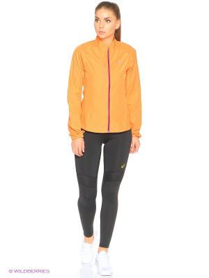 Ветровка Woven Jacket ASICS. Цвет: оранжевый