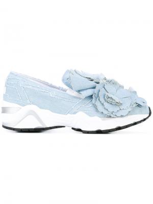 Джинсовые кроссовки с цветочным украшением Suecomma Bonnie. Цвет: синий