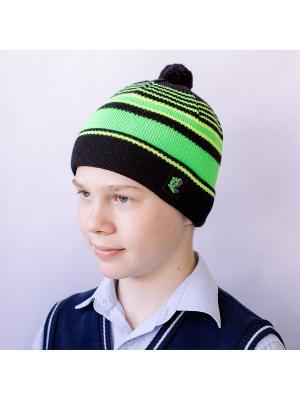 Шапка Хип-хоп 2 COOMPOL. Цвет: черный, светло-желтый, светло-зеленый