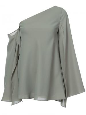 Asymmetric cold shoulder blouse C/Meo. Цвет: зелёный