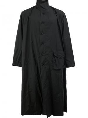 Пальто свободного кроя с высоким воротником By Walid. Цвет: чёрный