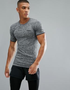 Craft Серая футболка Sportswear Active Comfort Running 1903792-9999. Цвет: черный