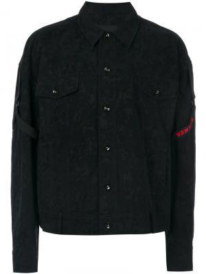 Куртка с лямками и камуфляжным принтом D.Gnak. Цвет: синий