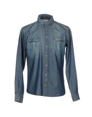 Джинсовая рубашка SUN 68. Цвет: синий
