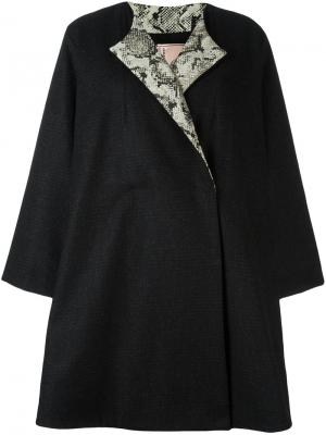 Пальто с цветочной аппликацией Antonio Marras. Цвет: чёрный