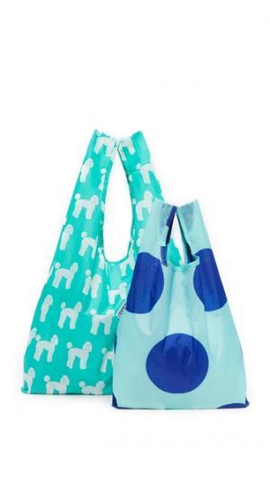 Набор сумок с принтом в виде пуделей BAGGU