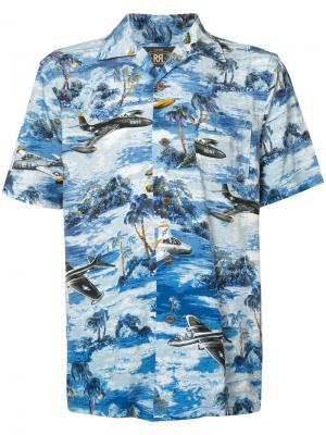 Рубашка с изображением пейзажа Rrl. Цвет: синий
