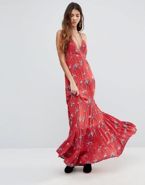 Raga Платье макси Sangria. Цвет: красный