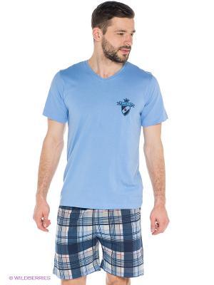 Комплект Vienetta Secret. Цвет: голубой, синий