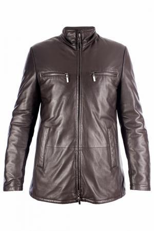 Куртка ENZO. Цвет: коричневый