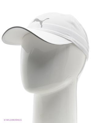 Бейсболка Unisex Running Cap III Puma. Цвет: белый