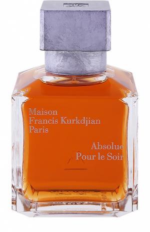 Парфюмерная вода Absolue Pour le Soir Maison Francis Kurkdjian. Цвет: бесцветный