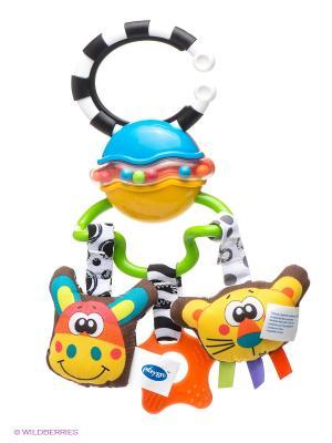 Игрушка-подвеска Сафари Playgro. Цвет: голубой, оранжевый, белый, черный, салатовый