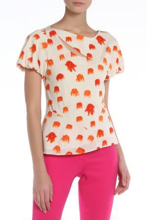Блузка Tsumori Chisato. Цвет: бежевый, оранжевый