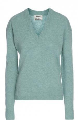 Вязаный свитер Acne Studios. Цвет: светло-зеленый