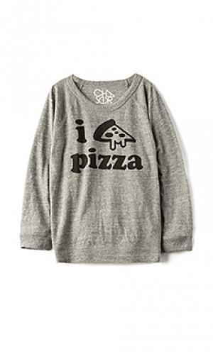 Футболка pizza time Chaser. Цвет: серый