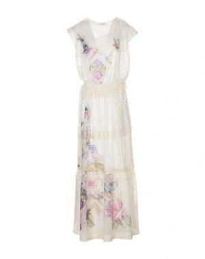 Длинное платье SONIA FORTUNA. Цвет: слоновая кость