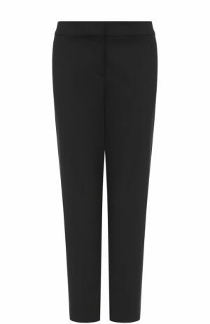 Укороченные брюки прямого кроя St. John. Цвет: черный
