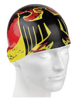 Шапочки для плавания Mad Wave. Цвет: черный, желтый, красный