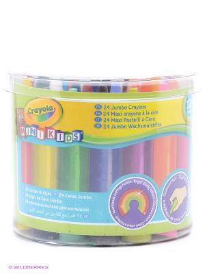 Набор восковых мелков для малышей Crayola. Цвет: желтый