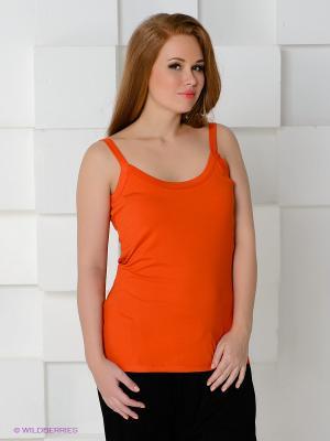 Топ MAT fashion. Цвет: оранжевый