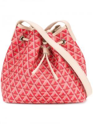 Сумка на плечо с геометрическим принтом Lancaster. Цвет: розовый и фиолетовый