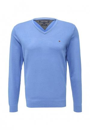 Пуловер Tommy Hilfiger. Цвет: голубой